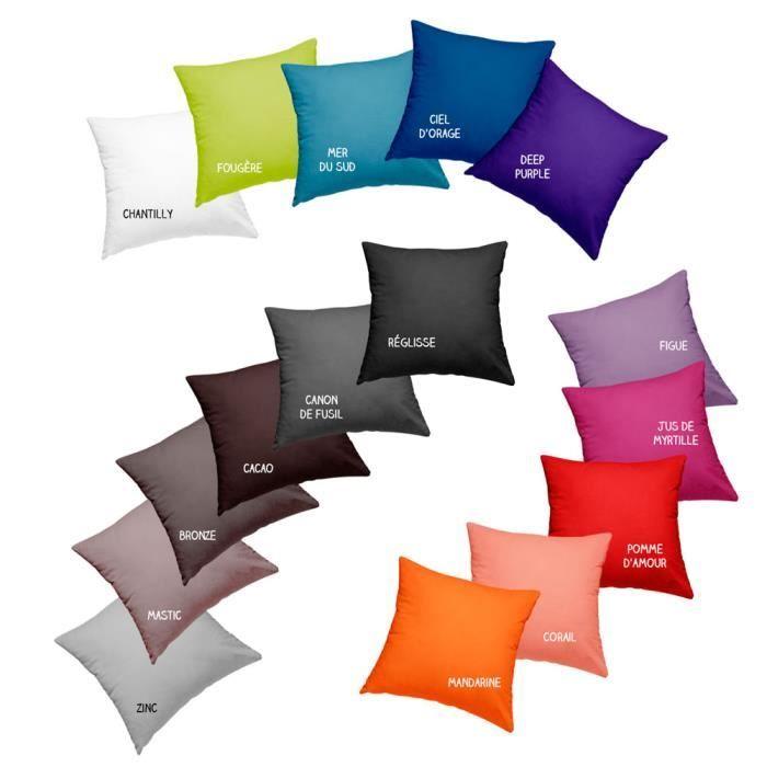 Coussin garni déhoussable - 40 x 40 cm - Today - Différents coloris Deep purple