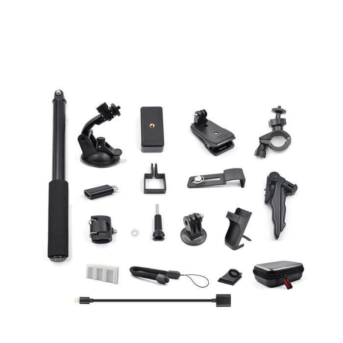 STARTRC Kit d'accessoires d'extension OSMO Pocket, supports de caméra d'action portables pour DJI OSMO Pocket Noir