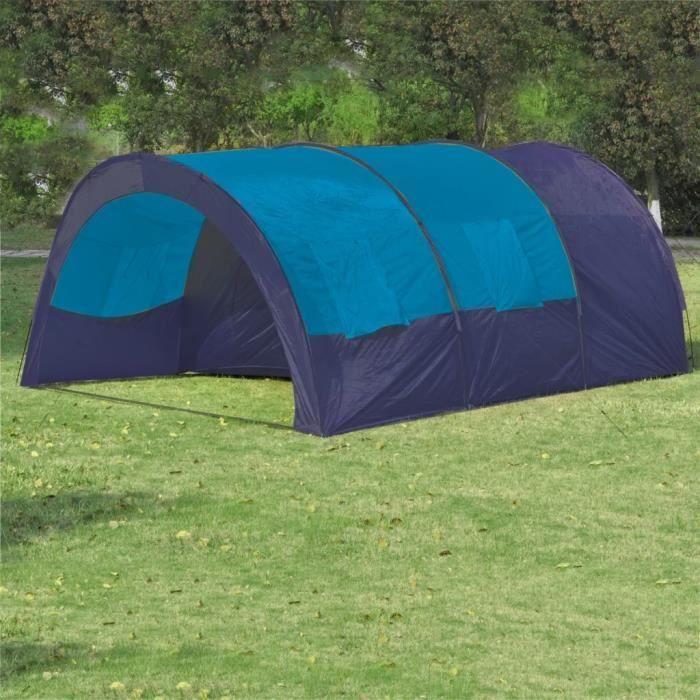 Tente de Camping Etanche pour 6 Personnes - Camping à l'extérieur & Randonnée - Bleu foncé - 480 x 350 x 195 cm