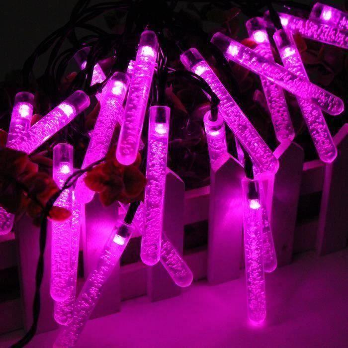 4.8m 20led Guirlande lumineuse exterieure solaire décoration noël fête mariage ROSE WYK29056 LIJFK5718