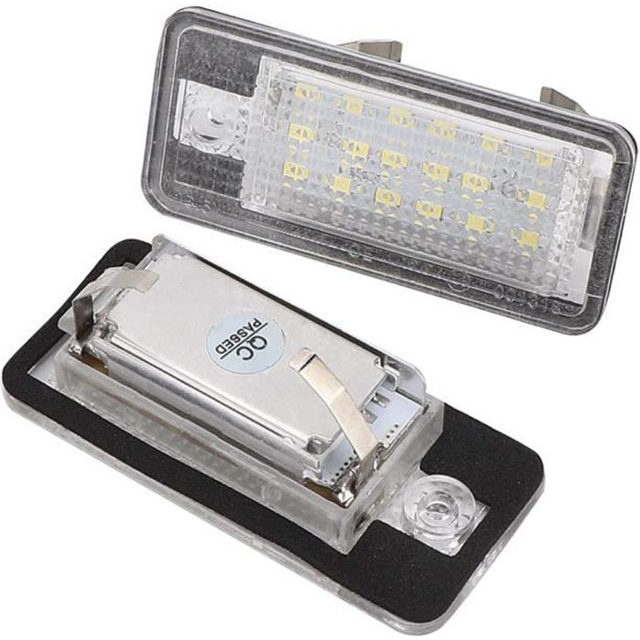 HURRISE Éclairage de plaque d'immatriculation 1 paire de feux de plaque d'immatriculation arrière à LED pour Audi