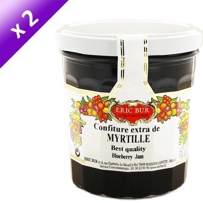 [LOT DE 2] ERIC BUR Confiture Extra Myrtilles - 370 g