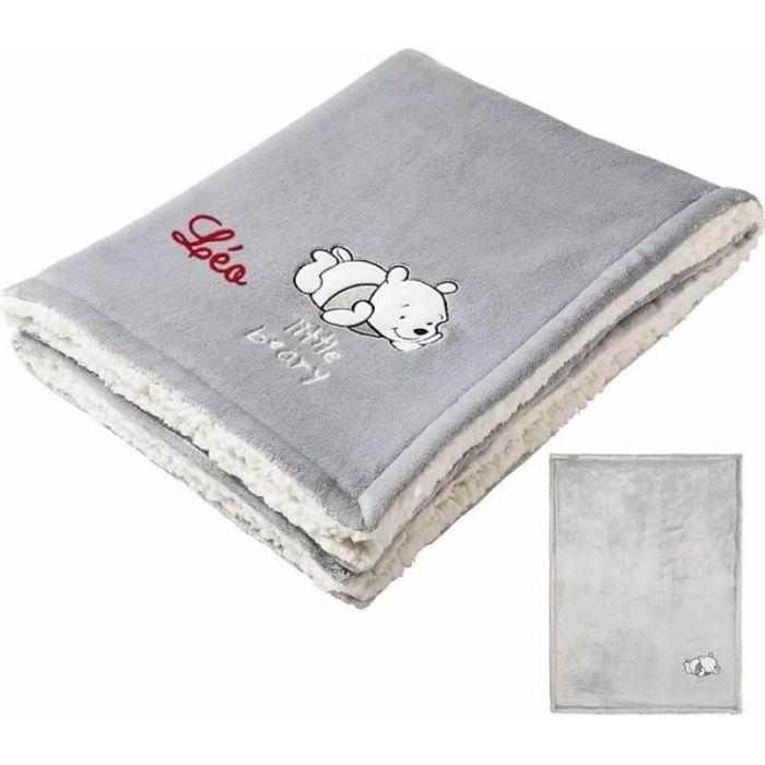 DISNEY Couverture bi-matière Winnie moon - 75 x 100 cm - Flanelle 100% polyester 220g/m²