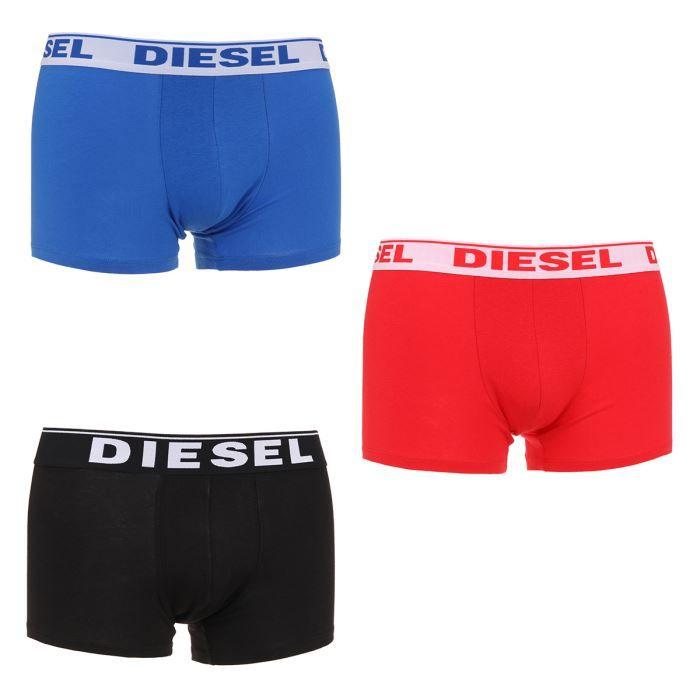 Diesel Lot de 3 Boxers Fresh & B... Bleu / noir...