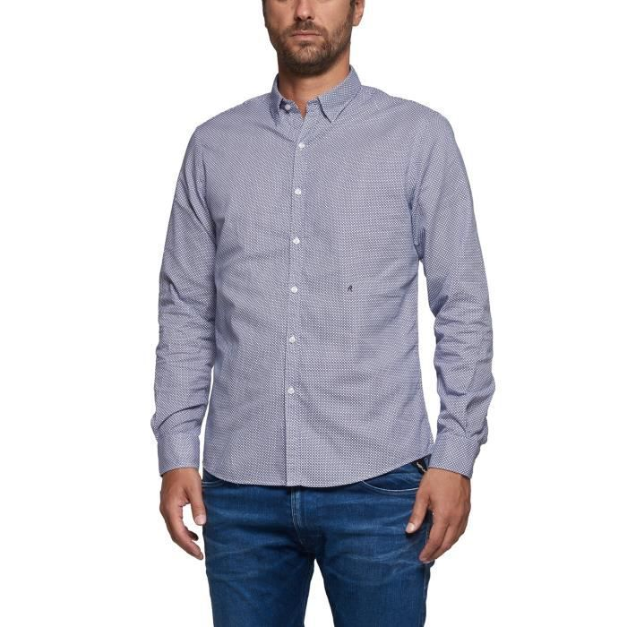 Replay Chemise bleu clair Homme