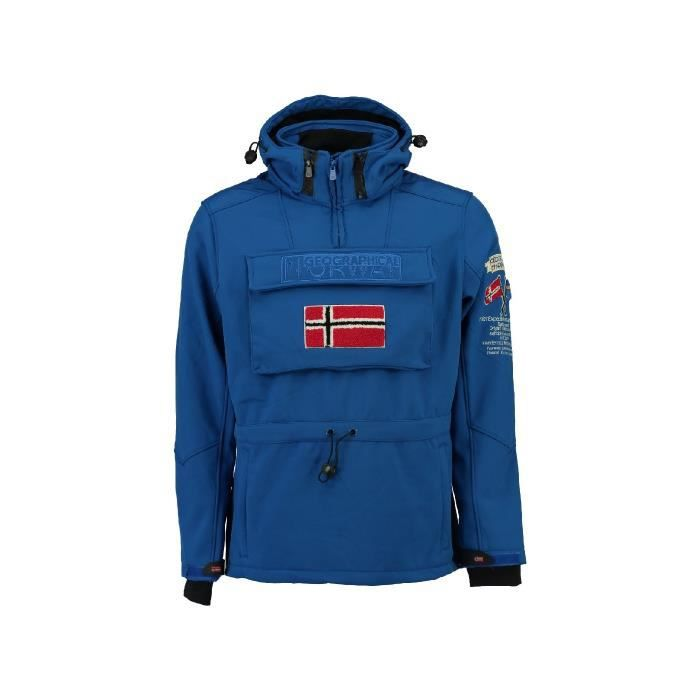 Softshell Homme Geographical Norway Terreaux Bleu