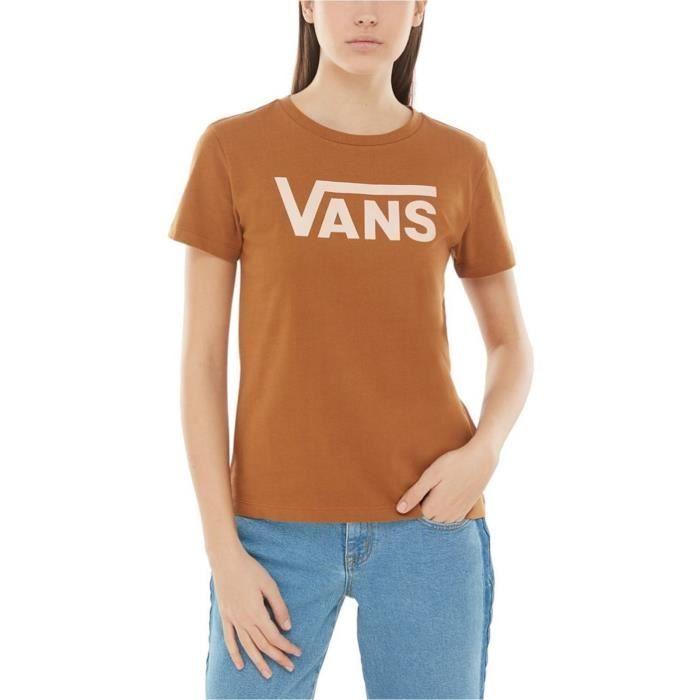 Tee shirt Femme Vans Flying V Crew Rubber