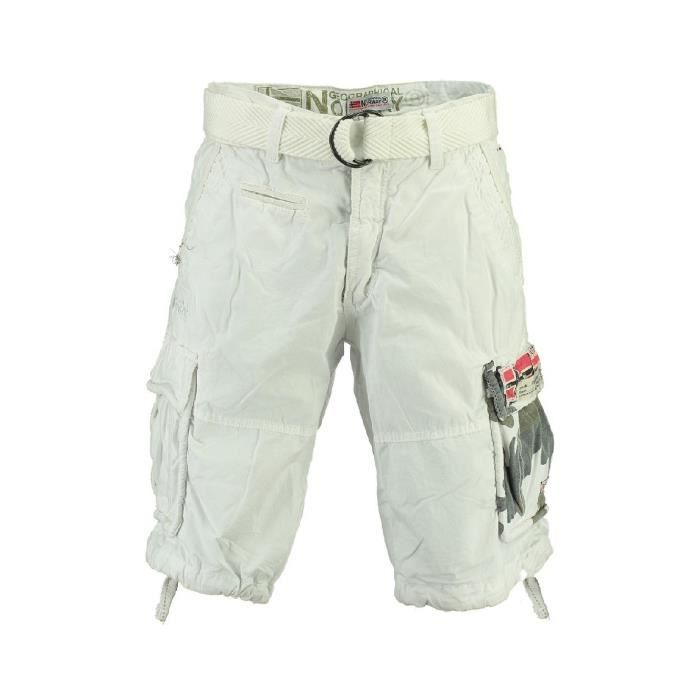 Bermuda Homme Geographical Norway Pasteque New Blanc