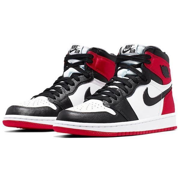 Air Jordans 1 Retro High OG -Satin Black Toe- Chaussures de Course pour Femme Homme