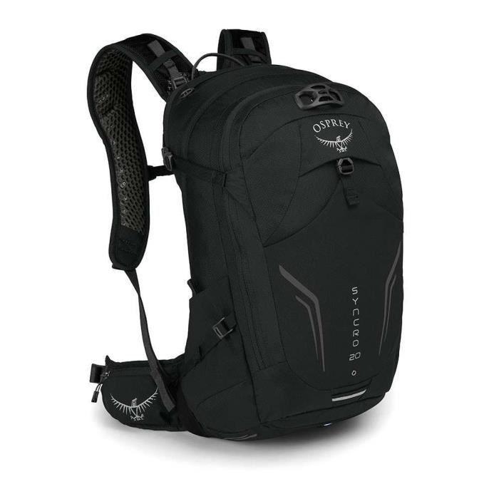 Osprey Syncro 20 black, sac à dos vélo