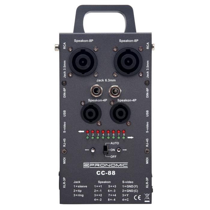 Pronomic CC-88 testeur de câbles multi