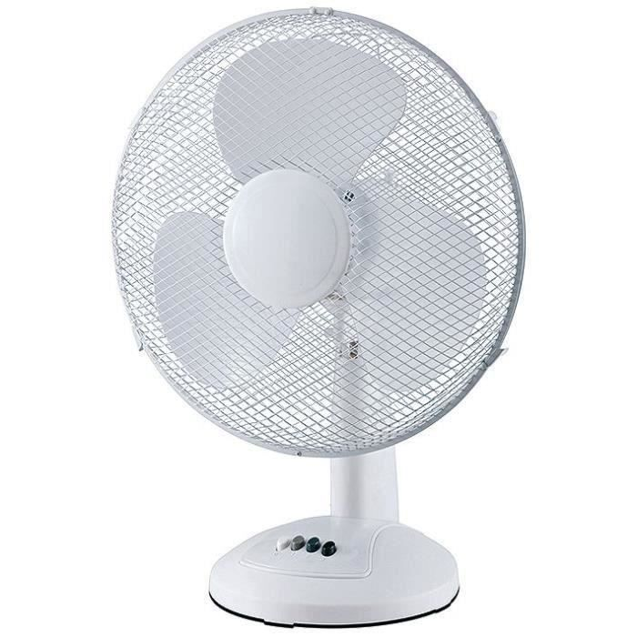 PROFILE Ventilateur de table 3vitesses - 40 cm - 55W - Blanc