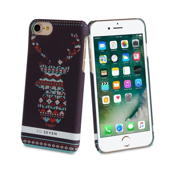 SO SEVEN Coque HIVER CANADIEN Motif PULL CERF APPLE IPHONE 7