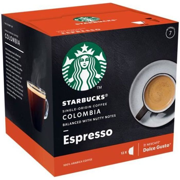 STARBUCKS Café Dolce Gusto Colombia - 12 capsules - 66 g