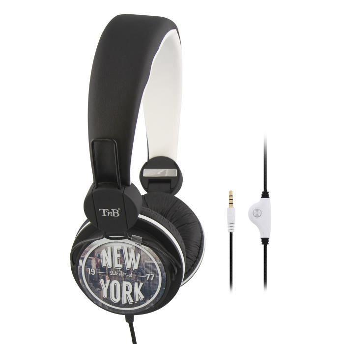 T'NB Be color Pack Ecouteurs intra-auriculaire et casque avec micros intégrés - Gris / Blanc