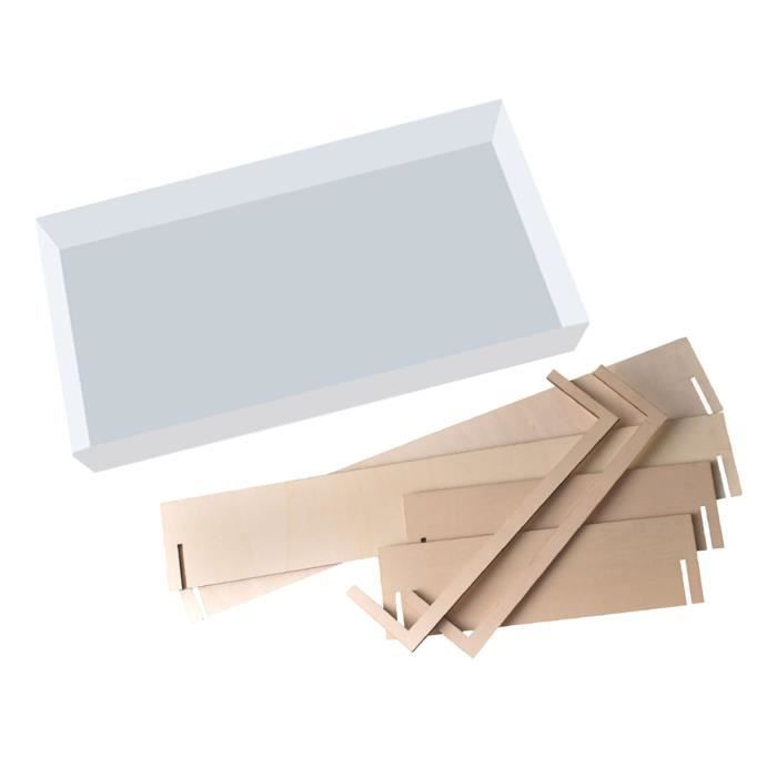 Moule en silicone 24x12x4 inch pour petite table en résine époxy faisant le moulage de résine avec cadre de fixation
