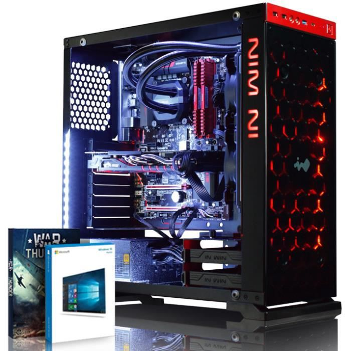 Vibox Armageddon Gs580 54 Pc Gamer Ordinateur avec War Thunder Jeu Bundle, Windows 10 Os (4,0Ghz Intel i3 Quad Core Processeur, Msi