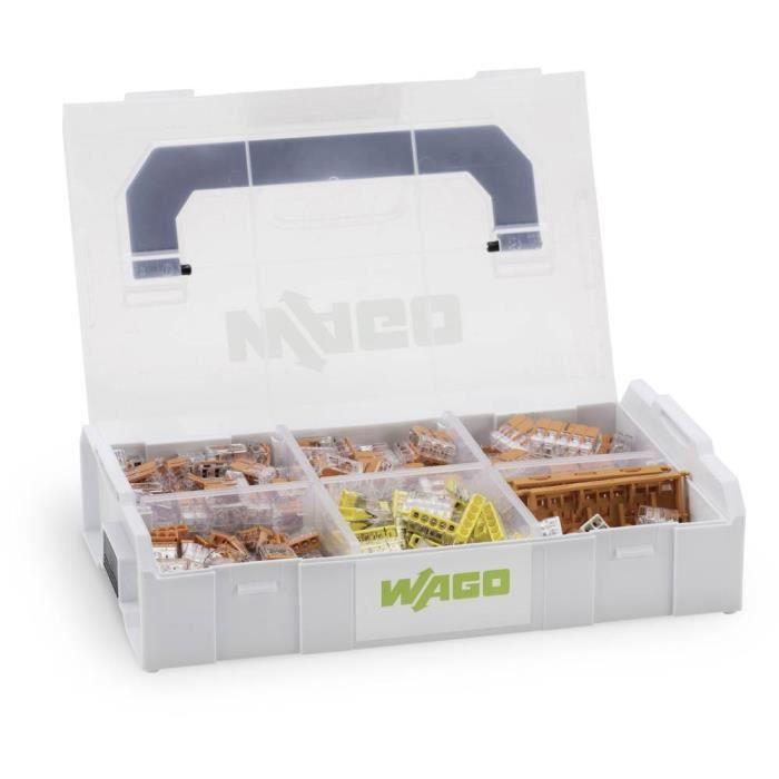 Assortiment de bornes pour boîte de dérivation 352 pièces WAGO 887-955 flexible: 0.14-4 mm² rigide: 0.2-4 mm² 1 set
