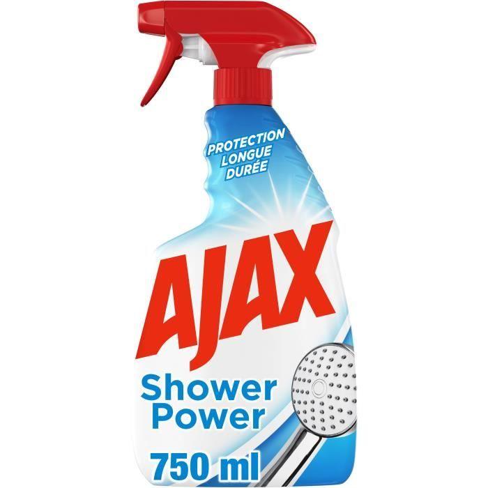 NETTOYAGE SALLE DE BAIN AJAX Nettoyant sanitaire anti-calcaire Shower Powe