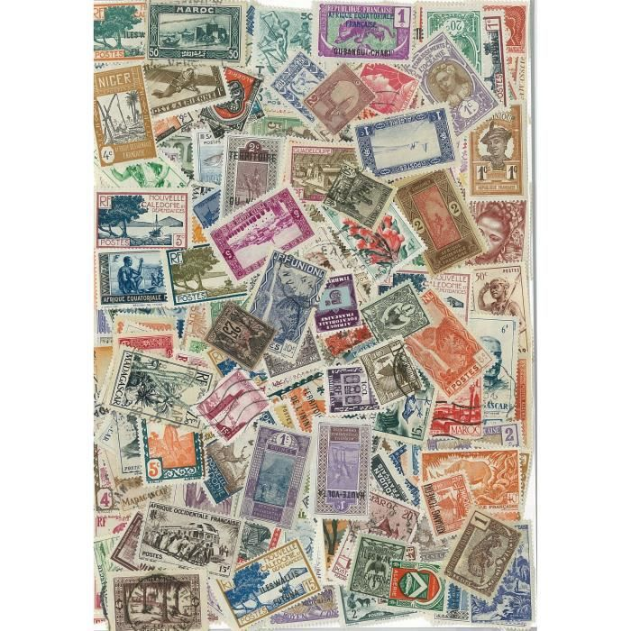 TIMBRE Communaute Francaise -  300 timbres collection …