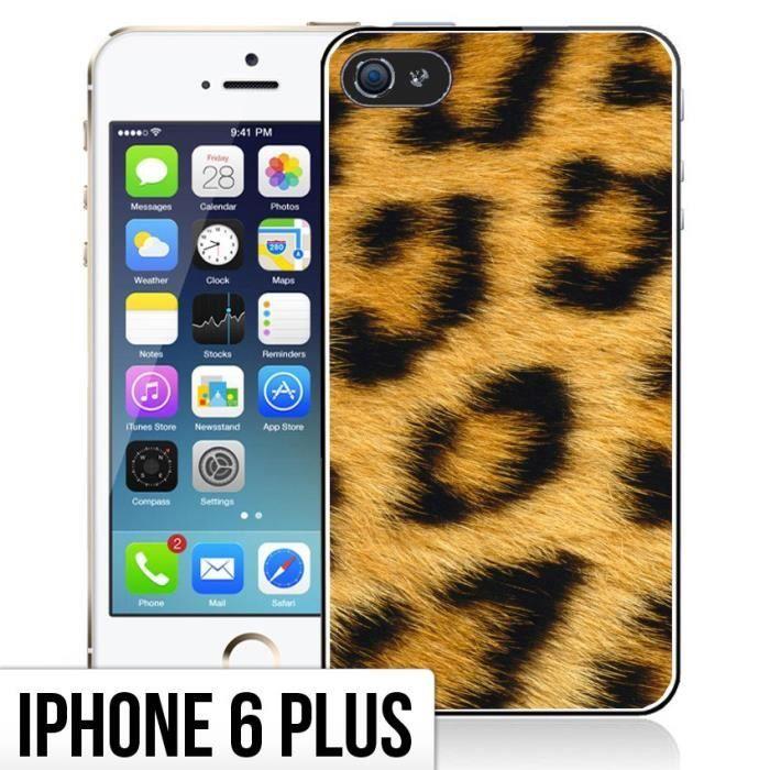 Coque iPhone 6 Plus- 6S Plus Fourrure - Leopard