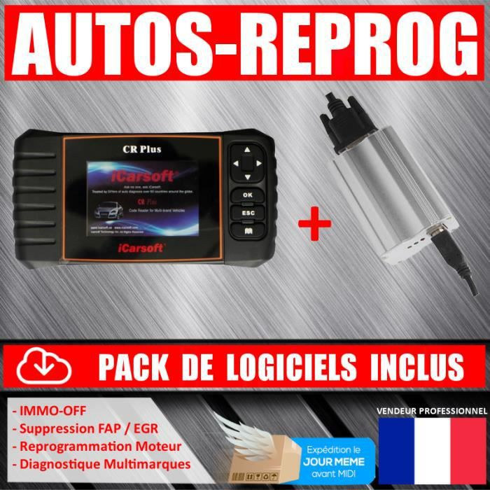 Icarsoft cr plus obd outil de garage multimarques mpps v3 for Prix diagnostic garage