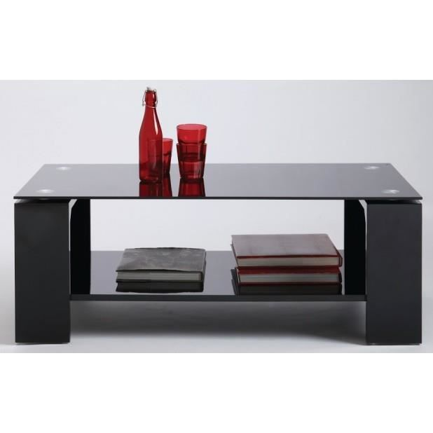 Table basse verre rectangulaire bercy noir couleur - Table basse rectangulaire verre ...