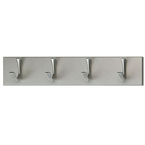 porte manteau mural avec quatre crochets achat vente porte manteau bois aluminium cdiscount. Black Bedroom Furniture Sets. Home Design Ideas