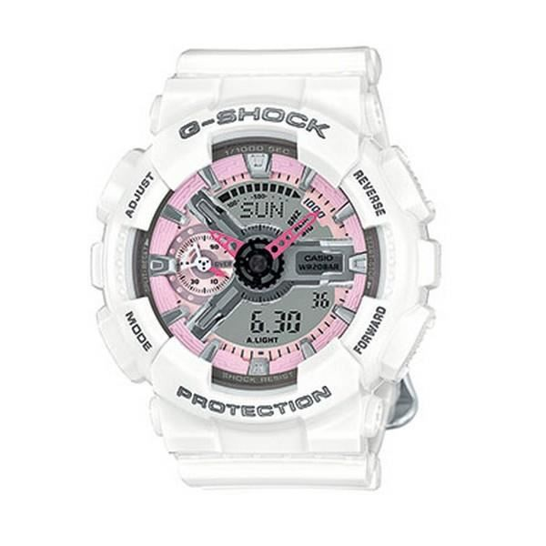 montre casio g shock femme blanche rose et grise gma s110mp 7aer achat vente montre montre. Black Bedroom Furniture Sets. Home Design Ideas