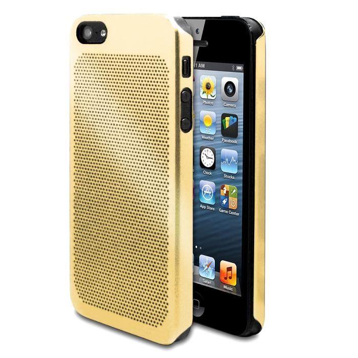 Coque dorée metal perforé pour iPhone 4 / 4S - Cdiscount Téléphonie