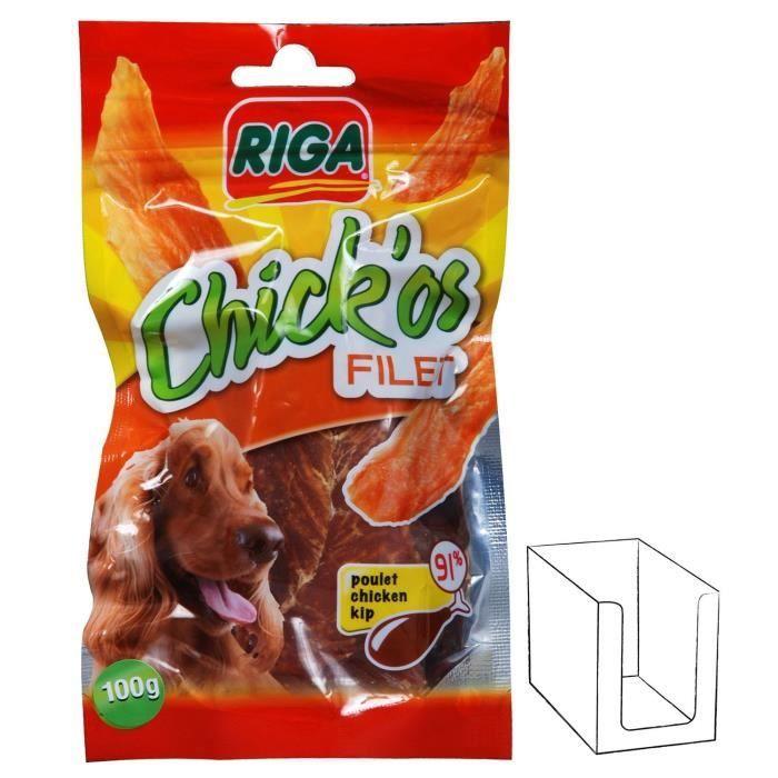 FRIANDISE RIGA CHICK'OS filets de poulet pour chien