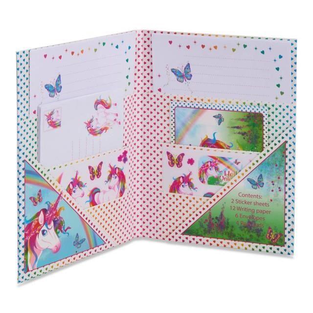 papier lign/é DIN A4 Lot de 50 feuilles de papier /à lettre pour enfant Motif cheval