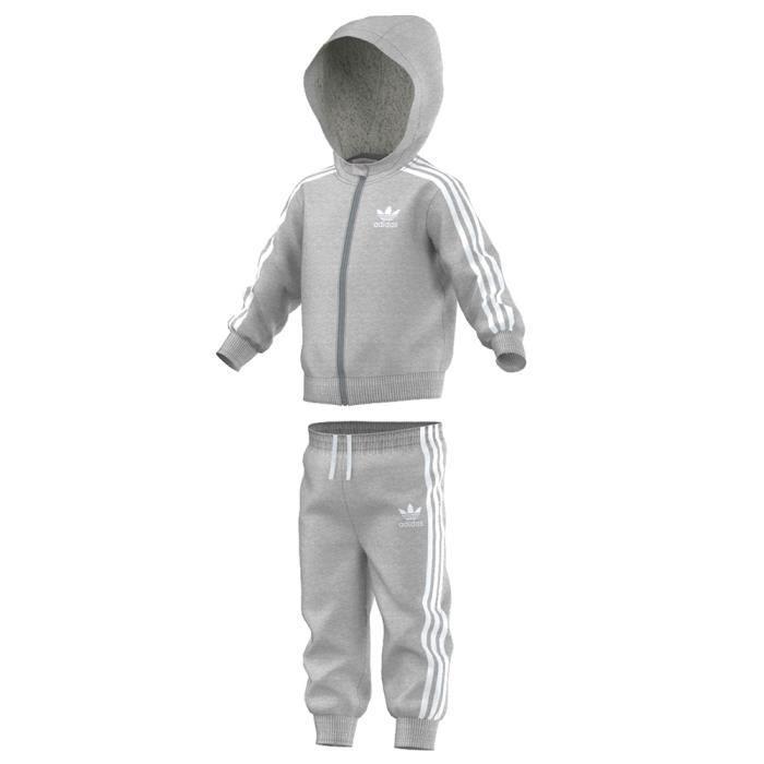 first rate website for discount get online Survêtement Adidas Originals Ensemble à capuche Furry Gris ...