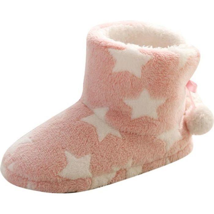 Chaussons Enfant Hiver Fille Peluche Chausson Gar/çon Pantoufle Mignon Dessin Anim/é Semelle Souple Anti-d/érapant Confort Chaud Chaussures pour la Maison