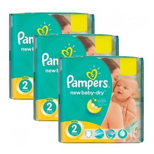 COUCHE 160 Couches Pampers New Baby Dry taille 2