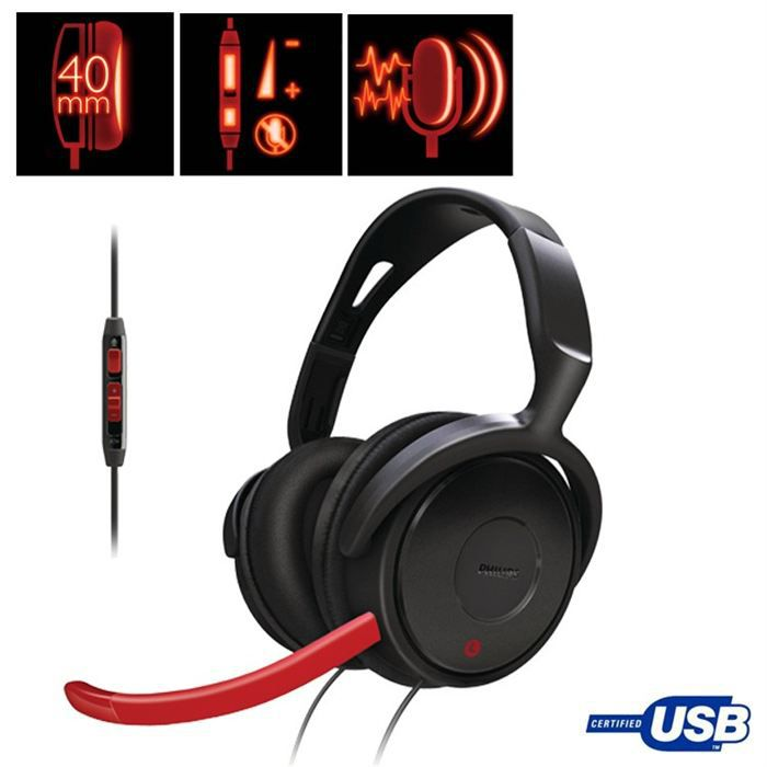 philips casque micro pour jeux pc shg7980 10 prix pas cher cdiscount. Black Bedroom Furniture Sets. Home Design Ideas