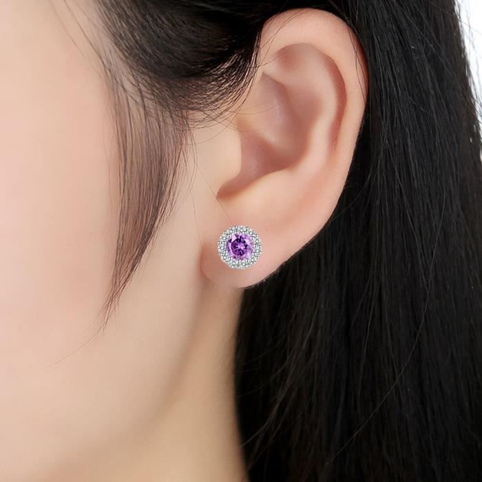 Womens Cluster Crystal Teardrop Flower Design Stud Earrings Fine Jewelry For Valentines Day GiftsWNH4X