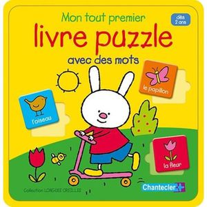 LIVRE 0-3 ANS ÉVEIL Mon tout premier livre puzzle avec des mots. Dès 2
