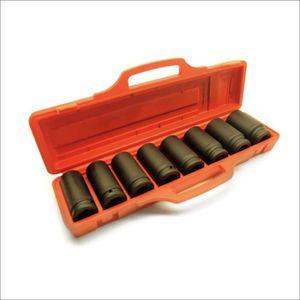"""3//4/"""" dr Impact Sockets de profondeur 26mm à 38mm 8pc 6 Hex Verso Fusil TE238"""