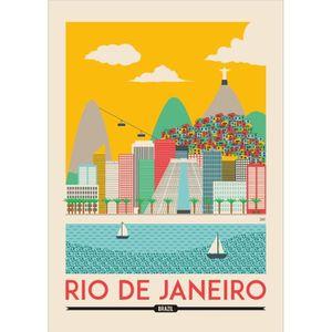PLV - AFFICHE Rio de Janeiro Brésil art 84,1 x 118,9 cm A0 satin