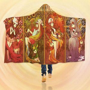 COUVERTURE - PLAID 3D  Hooded Blanket for Pokemon 8105   Couverture à