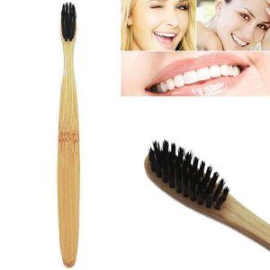 BROSSE A DENTS Soins dentaires 1 brosse à dents en charbon de bam