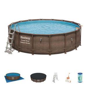 PISCINE Kit piscine ronde Power Steel Deluxe Rotin - Bestw