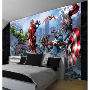 papier peint marvel achat vente pas cher. Black Bedroom Furniture Sets. Home Design Ideas