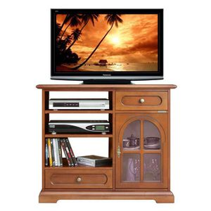 meuble tv vitre achat vente meuble tv vitre pas cher cdiscount. Black Bedroom Furniture Sets. Home Design Ideas