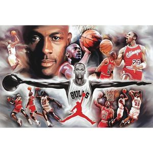 poster michael jordan achat vente poster michael jordan pas cher cdiscount. Black Bedroom Furniture Sets. Home Design Ideas