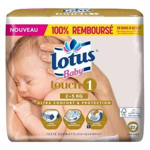 """COUCHE Lotus Couches Baby """"Touch 1"""" (2-5Kg) X44 (lot de 2"""