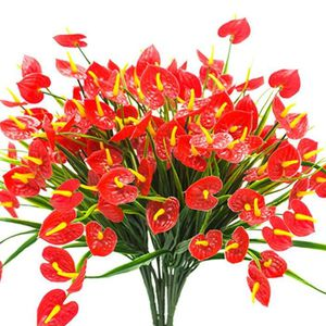 FLEUR ARTIFICIELLE 4 Bouquets De Faux Fleurs Artificielles Plantes Fa
