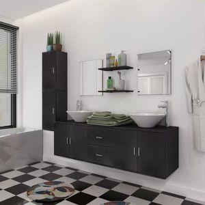 SALLE DE BAIN COMPLETE Meuble de salle de bain 11 pcs avec lavabo et robi