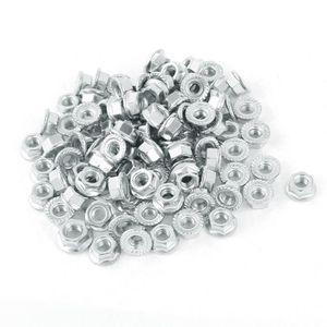 VIS - CACHE-VIS M4 en acier au carbone plaqué zinc hexagonale dent